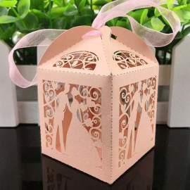 Esküvői köszönetajándék doboz