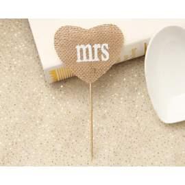 Mr és Mrs betűzős juta tábla