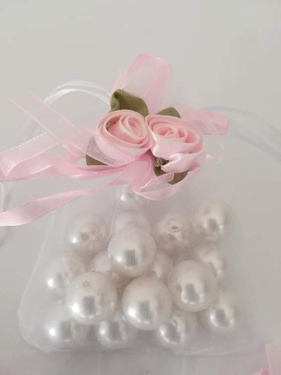 Organza tasak,zsák rózsával