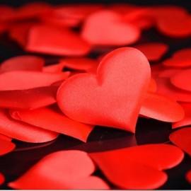 Párnázott szív dekoráció