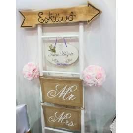 """""""Esküvői"""" és"""" Wedding"""" feliratos táblák"""