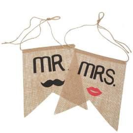 Mr és Mrs juta táblák