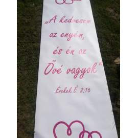 Esküvői bevonuló szőnyeg