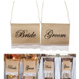 Bride and Groom(Vőlegény és Menyasszony)Juta zászló