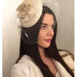 Vintage stílusú  fátyol,kalap