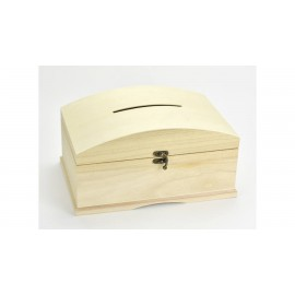 Esküvői persely,pénzes  kincses doboz fából
