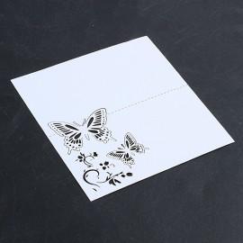 Fehér ültető kártyák
