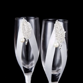 Esküvői pezsgős pohár