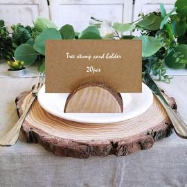 Ültető kártya tartó fából