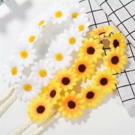 Virág koszorú hajpánt és karkötő